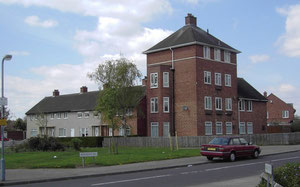 A range of house types were built in Shard End, here in Bradley Crescent