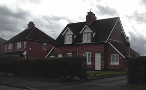 These houses in Shard End Crescent predate the post-war estate
