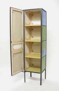 o.T., Locker, 2006, Painting, Screenprint on Canvas, 45 x 43 x 178 cm