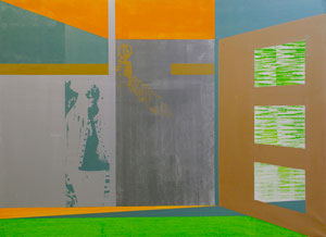 Space, 2012, Painting, Screenprint on Canvas, 150 x 110 cm