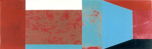 o.T., 1997, Painting, Screenprint on Canvas, 150 x 50 cm
