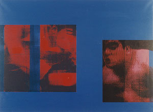 Blue and Red, 1997, Painting, Screenprint on Canvas, 150 x 110 cm