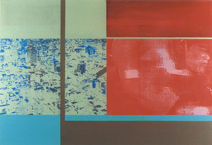 Red Sumo, 1997, Painting, Screenprint on Canvas, 150 x 110 cm