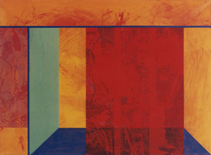 Redroom, 1989, Painting, Screenprint on Canvas, 150 x 110 cm