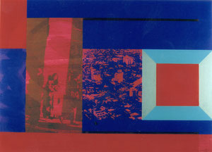 Waiting, 1997, Painting, Screenprint on Canvas, 150 x 110 cm