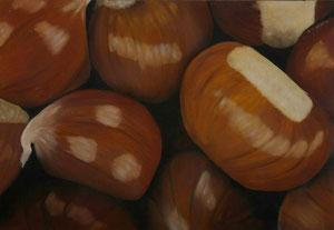Marrons -03    /  huile sur toile marouflée /    40 x 58