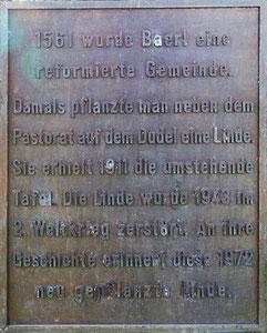 Gedenktafel von 1972; Foto H. Kuhlen