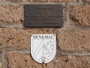 Informationstafeln zum Denkmalschutz; Foto H.Kuhlen