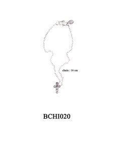 BCHI020 OXI 30, GP 36: OXI CHILD BRACELET W/ FILIGREE CROSS.