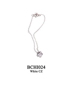 BCHI024 OXI 35, GP 45: OXI CHILD BRACELET W/ FILIGREE FLOWER.
