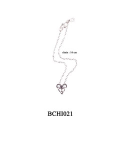 BCHI021 OXI 30, GP 36:  OXI CHILD BRACELET W/ FILIGREE HEART.