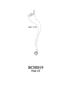 BCHI019 OXI 32, GP 38: OXI CHILD BRACELET PINK CZ IN CUP AS DROP.