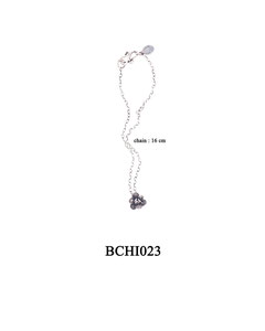 BCHI023 OXI 31, GP 37: OXI CHILD BRACELET W/ FILIGREE ROSE.