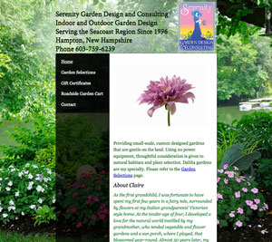 Floral Consultant Website (not currently a published site)