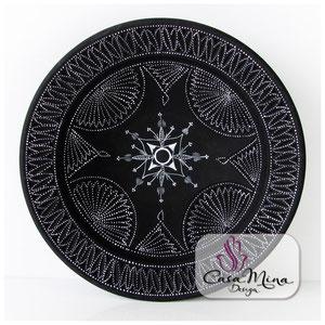 Keramikteller Keramik Teller Handarbeit handbemalt Casa Mina Design Magic III