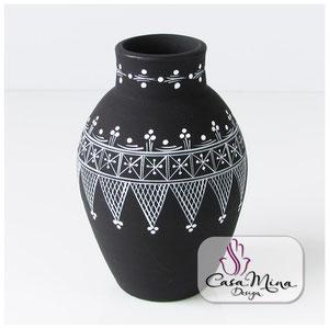 Keramikvase Keramik Vase Handarbeit handbemalt Casa Mina Design Magic II