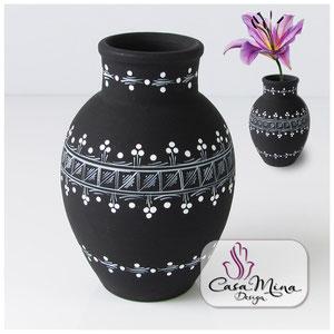 Keramikvase Keramik Vase Handarbeit handbemalt Casa Mina Design Magic I