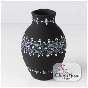 Keramikvase Keramik Vase Handarbeit handbemalt Casa Mina Design Magic IV