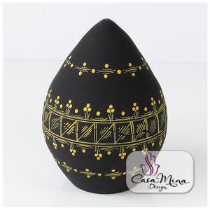 Keramikdosen Vorratsdosen Bonbonniere Keramik Dose Ei Handarbeit handbemalt Casa Mina Design Magic gelb