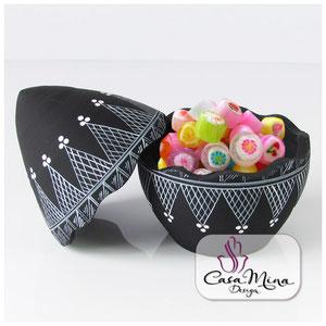 Keramikdosen Vorratsdosen Bonbonniere Keramik Dose Ei Handarbeit handbemalt Casa Mina Design