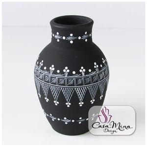 Keramikvase Keramik Vase Handarbeit handbemalt Casa Mina Design Magic III
