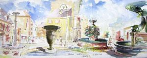* 743- Les fontaines de Remiremont 2, 85 x 33,  Arches 350 gr,