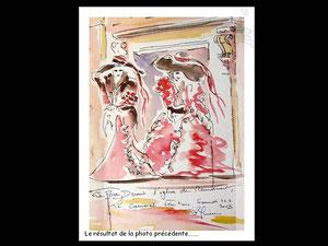 *746- peint en direct, 21 x 30, papier Lana ,180 gr