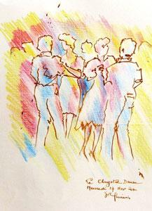 * 818- Encre, crayon de couleur, 20 x 30