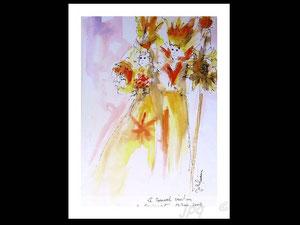 *768- peint en direct, 21 x 30, papier Lana ,180 gr
