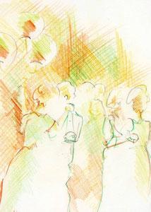 * 817- Crayon de couleur, 30x 40