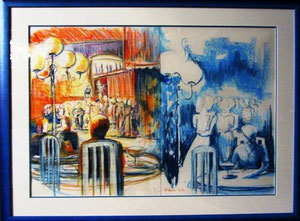 * 804- La Croisette d'Hérival, pastel 101 x 81 sur papier Canson coloré