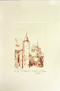 * 179- Estampe sur Épinal  format 20X30 Vélin d'Arches
