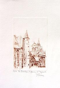 * 177- Estampe sur Épinal  format 20X30 Vélin d'Arches