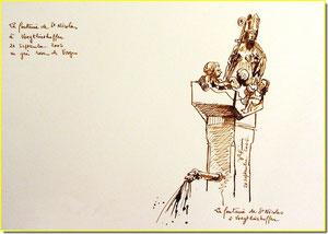 * 8  Voegtlinshoffen,la fontaine St-Nicolas