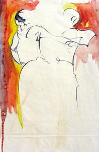 *550-La guinguette de La Croisette d'Hérival à Remiremont, 50 x 70 ,Acrylique sur papier glacé