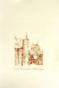 * 176- Estampe sur Épinal  format 20X30 Vélin d'Arches