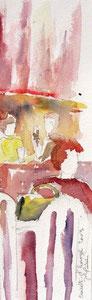 *543- La guinguette de La Croisette d'Hérival à Remiremont, 20 x 50 (en hauteur) Arches 350gr
