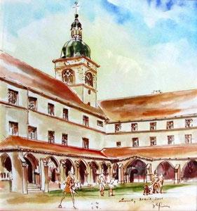 * 771- Le Cloître,La Mairie-Basilique, 50 x 70  Arches 300 gr