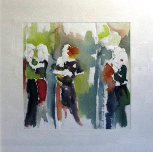*546-La guinguette de La Croisette d'Hérival à Remiremont, 50 x 50, Arches 350gr