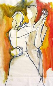*551-La guinguette de La Croisette d'Hérival à Remiremont, 50 x 70 ,Acrylique sur papier glacé