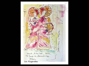 *753- peint en direct, 21 x 30, papier Lana ,180 gr