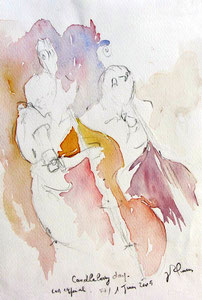 * 521- Les élèves de Marie en répétition, orchestre à cordes d'Epinal ,30x 40