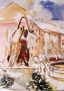 758-  La fontaine du Cygne