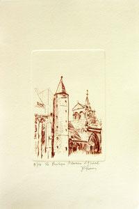 * 178- Estampe sur Épinal  format 20X30 Vélin d'Arches