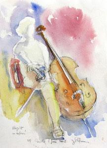 * 523- Les élèves de Marie en répétition, orchestre à cordes d'Epinal ,30x 40
