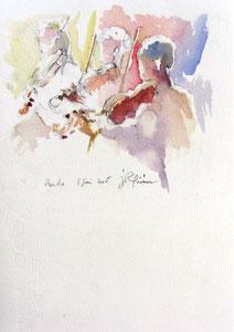 * 520- Les élèves de Marie en répétition, orchestre à cordes d'Epinal ,30x 40