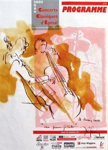 * 528- lavis merisier, répetition des élèves de l'Ecole nationale de Musique d'Epinal , 20 x 30