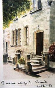 797- Grande aquarelle sur Luxeuil, 50 x 70
