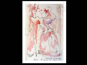 *756- peint en direct, 21 x 30, papier Lana ,180 gr