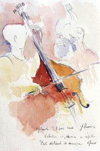* 522- Les élèves de Marie en répétition, orchestre à cordes d'Epinal ,30x 40